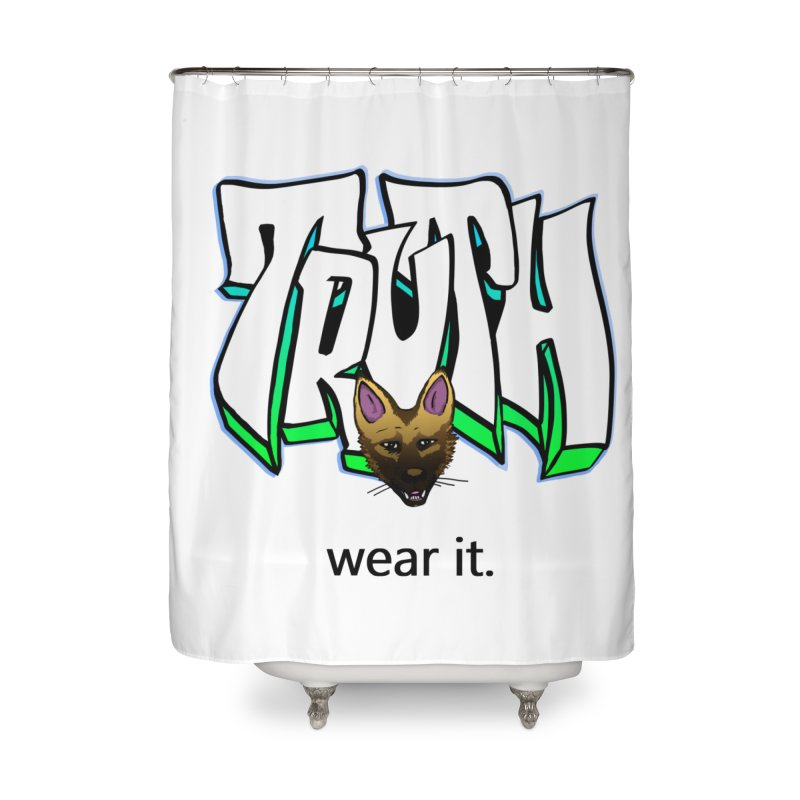 Truth and pup Home Shower Curtain by truthpup's Artist Shop