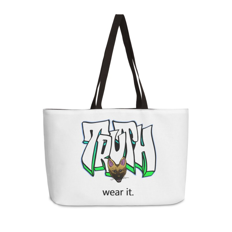 Truth and pup Accessories Weekender Bag Bag by truthpup's Artist Shop