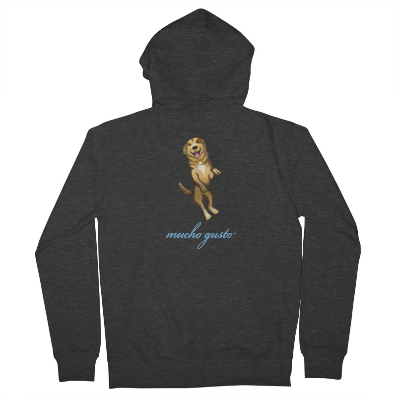 Mucho Gusto Men's French Terry Zip-Up Hoody by truthpup's Artist Shop