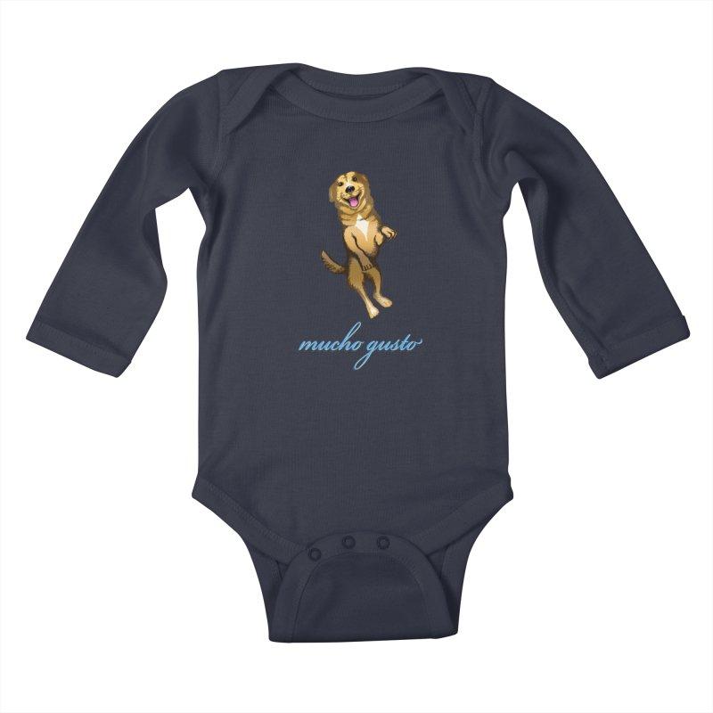 Mucho Gusto Kids Baby Longsleeve Bodysuit by truthpup's Artist Shop