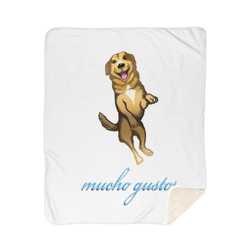 Mucho Gusto Home Sherpa Blanket Blanket by truthpup's Artist Shop