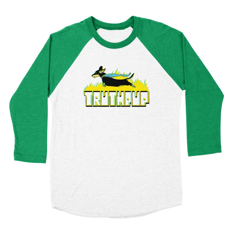Truthpup Women's Baseball Triblend Longsleeve T-Shirt by truthpup's Artist Shop