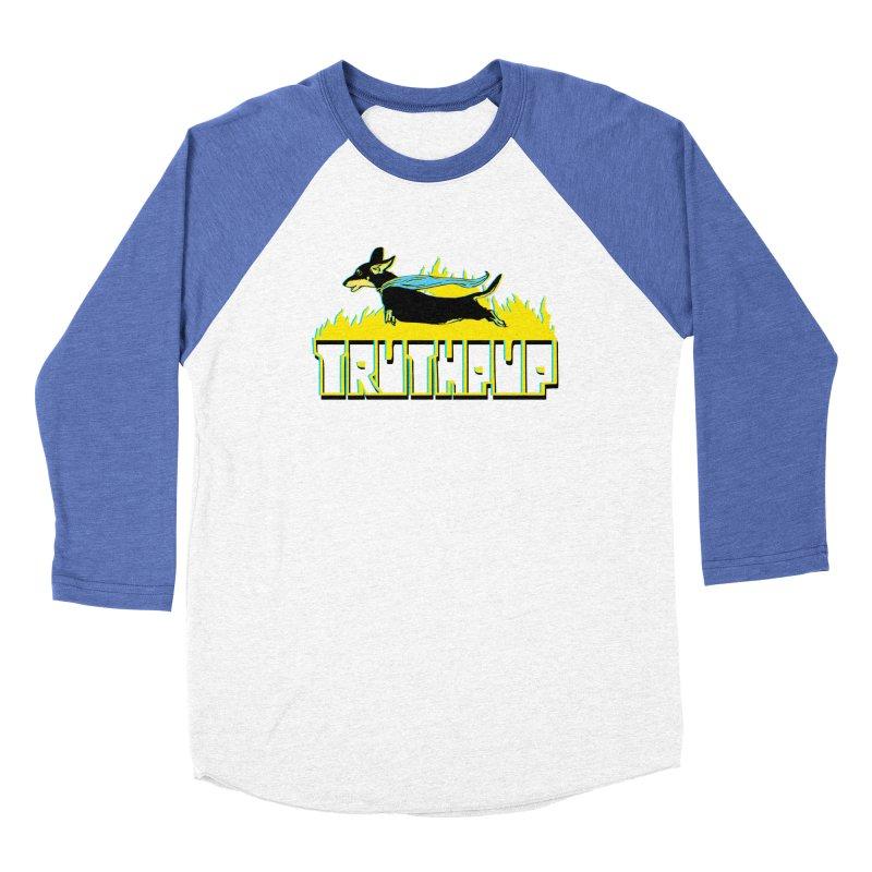 Truthpup Men's Baseball Triblend Longsleeve T-Shirt by truthpup's Artist Shop