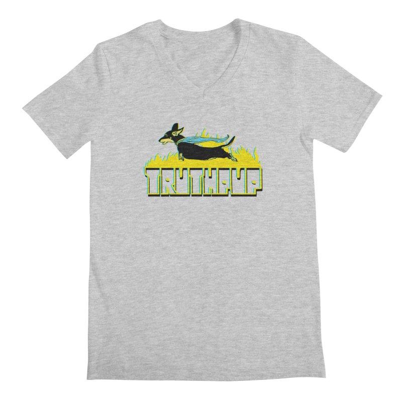 Truthpup Men's Regular V-Neck by truthpup's Artist Shop