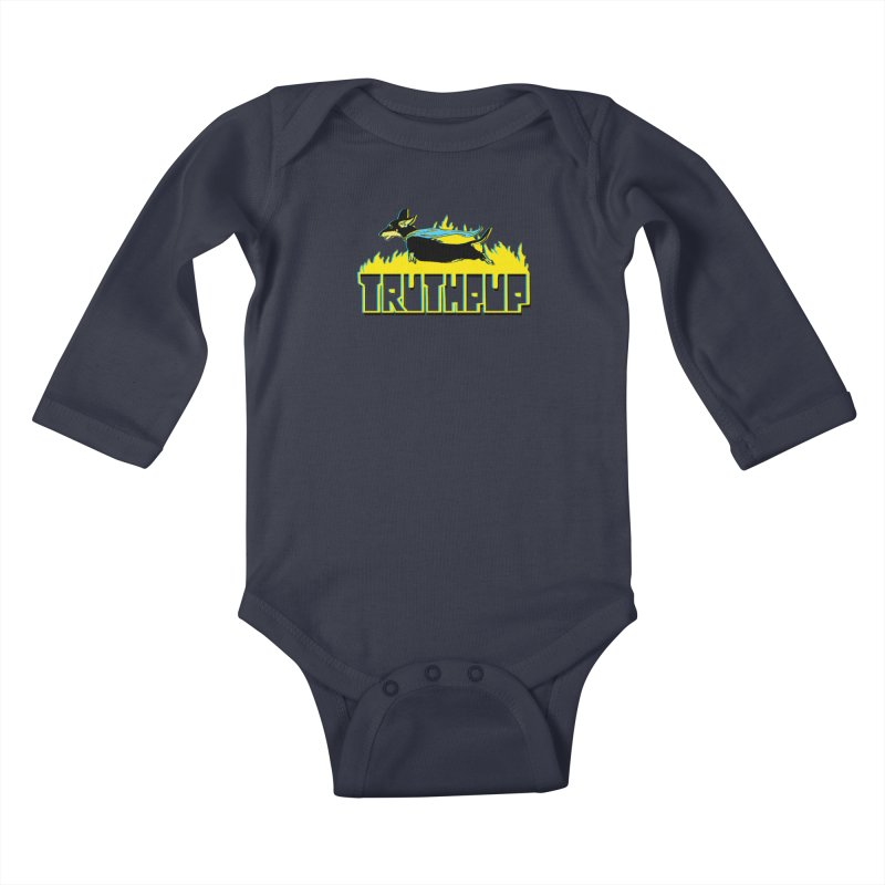 Truthpup Kids Baby Longsleeve Bodysuit by truthpup's Artist Shop
