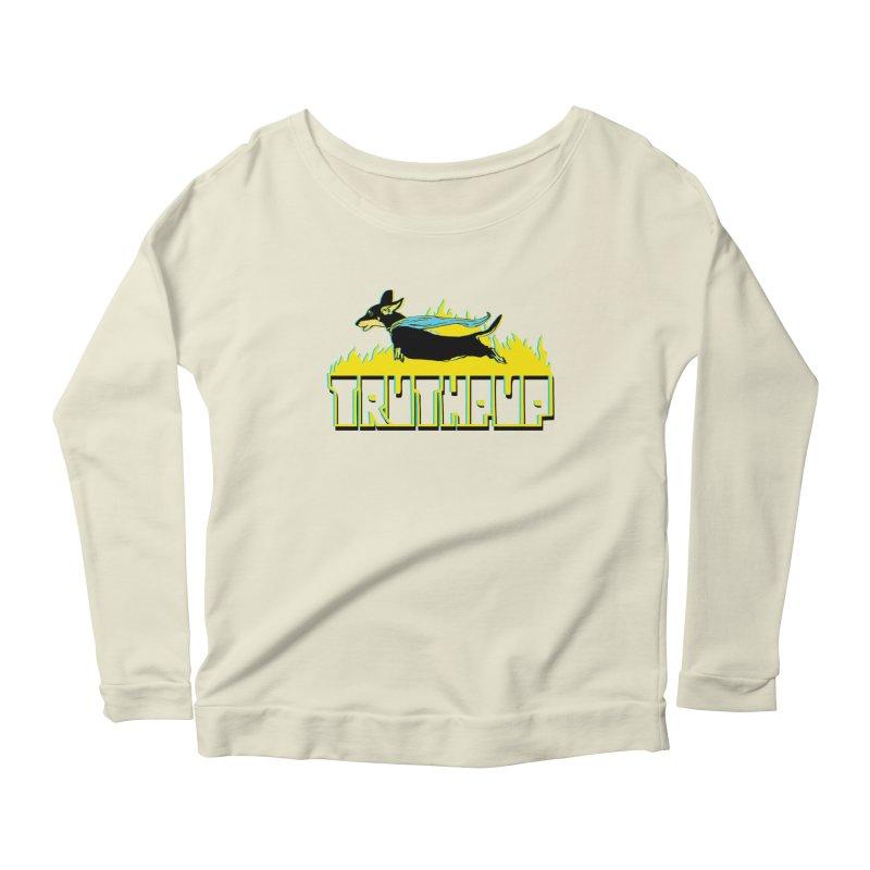 Truthpup Women's Scoop Neck Longsleeve T-Shirt by truthpup's Artist Shop