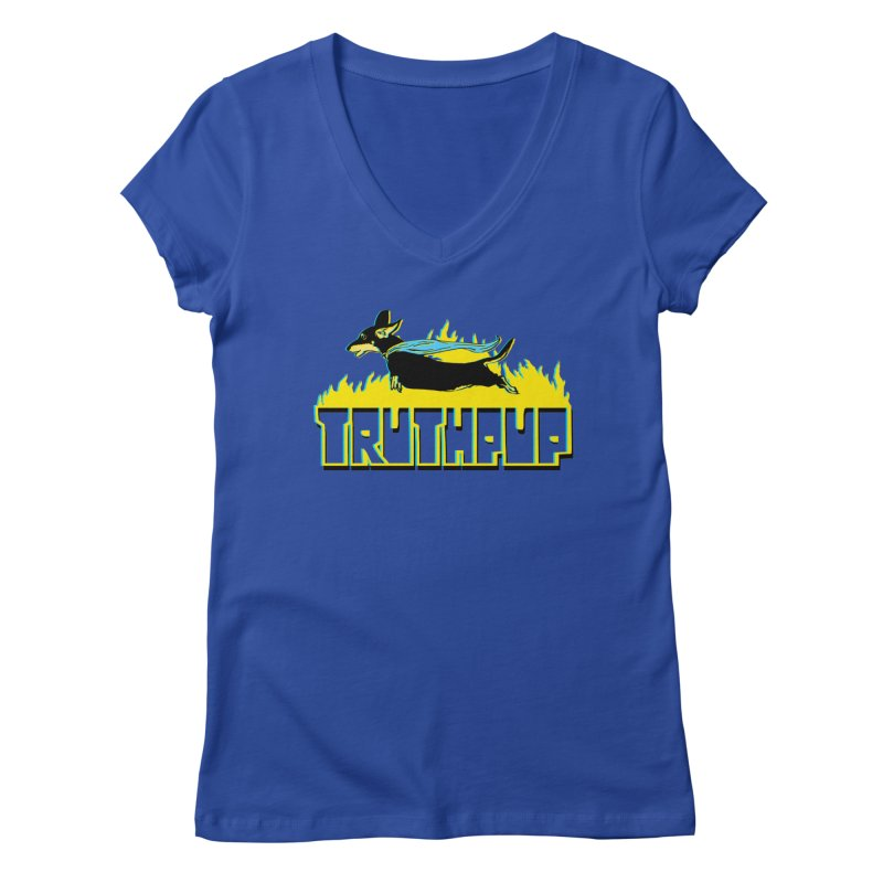 Truthpup Women's V-Neck by truthpup's Artist Shop