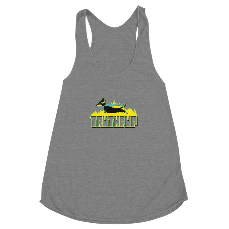 Truthpup Women's Racerback Triblend Tank by truthpup's Artist Shop