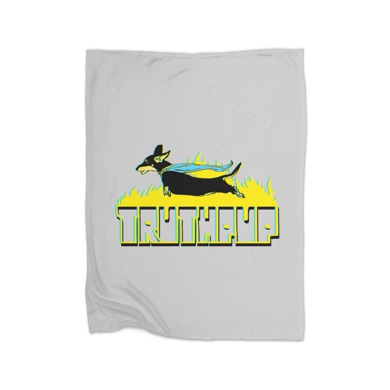 Truthpup Home Fleece Blanket Blanket by truthpup's Artist Shop