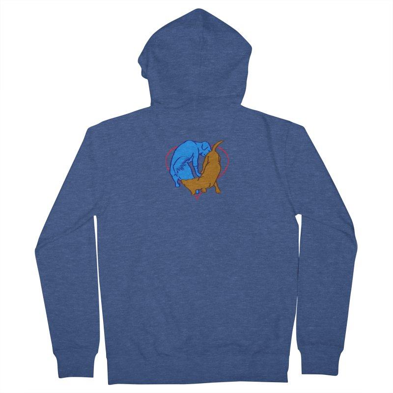 friends Women's French Terry Zip-Up Hoody by truthpup's Artist Shop