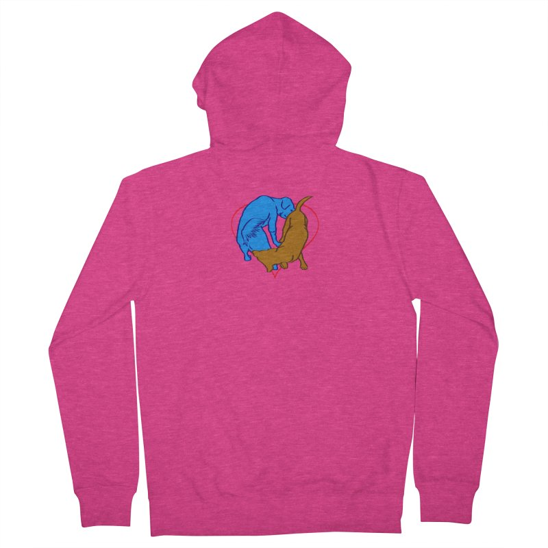 love at first... Women's French Terry Zip-Up Hoody by truthpup's Artist Shop