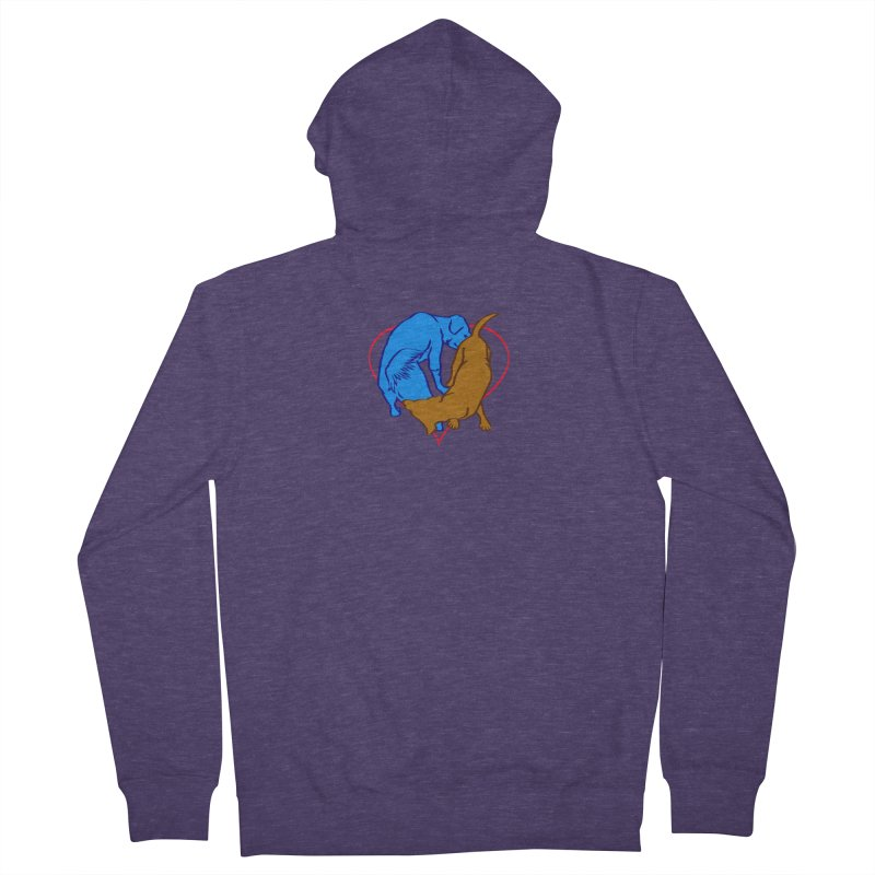 friends Men's French Terry Zip-Up Hoody by truthpup's Artist Shop
