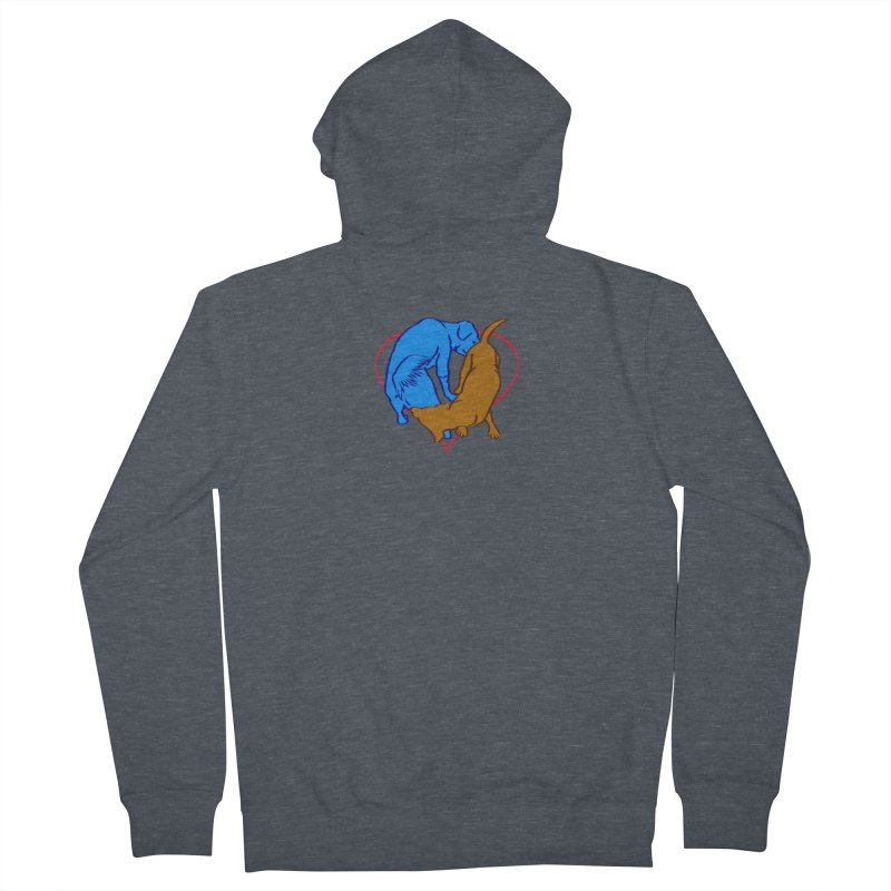 love at first sniff Men's French Terry Zip-Up Hoody by truthpup's Artist Shop