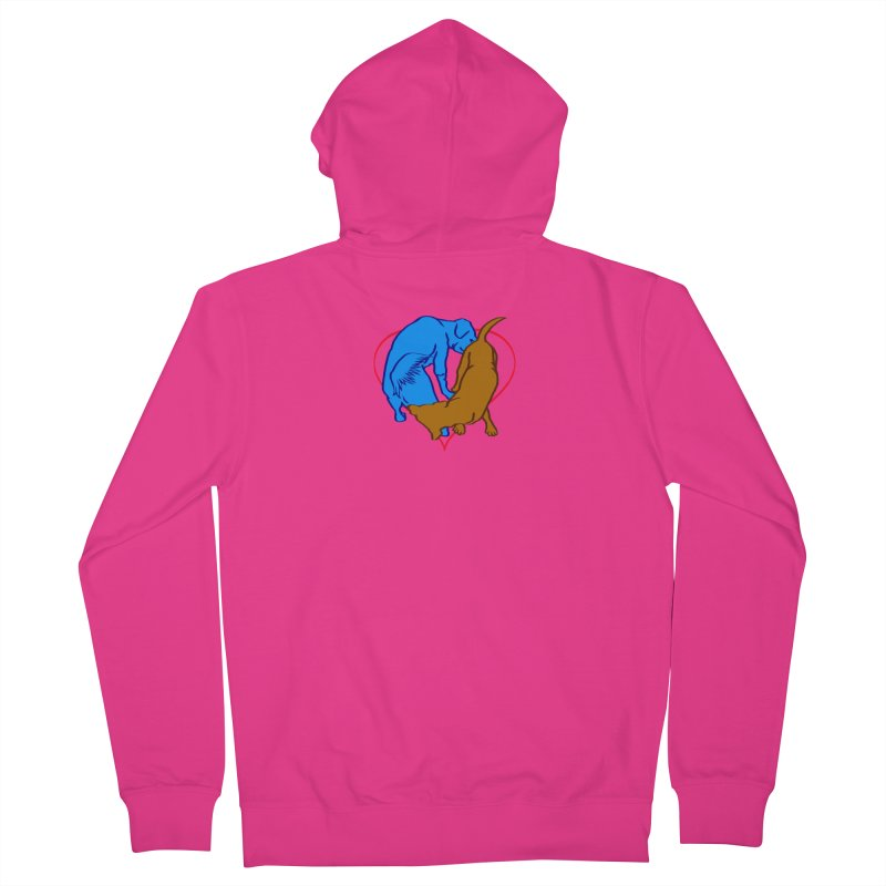 love at first... Men's French Terry Zip-Up Hoody by truthpup's Artist Shop