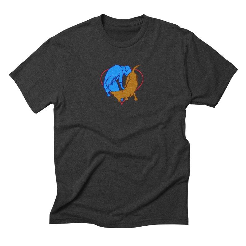 friends Men's Triblend T-Shirt by truthpup's Artist Shop