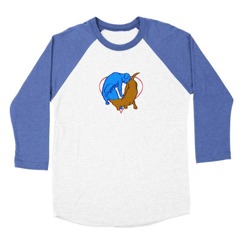 friends Men's Baseball Triblend Longsleeve T-Shirt by truthpup's Artist Shop