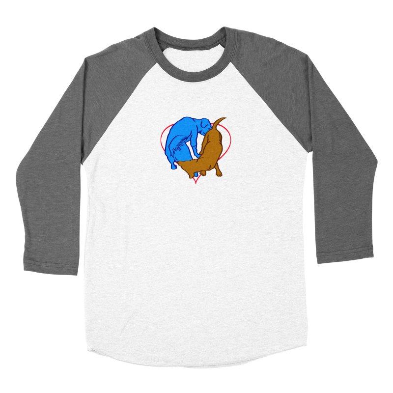 love at first sniff Men's Baseball Triblend Longsleeve T-Shirt by truthpup's Artist Shop