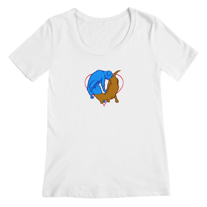 love at first sniff Women's Regular Scoop Neck by truthpup's Artist Shop