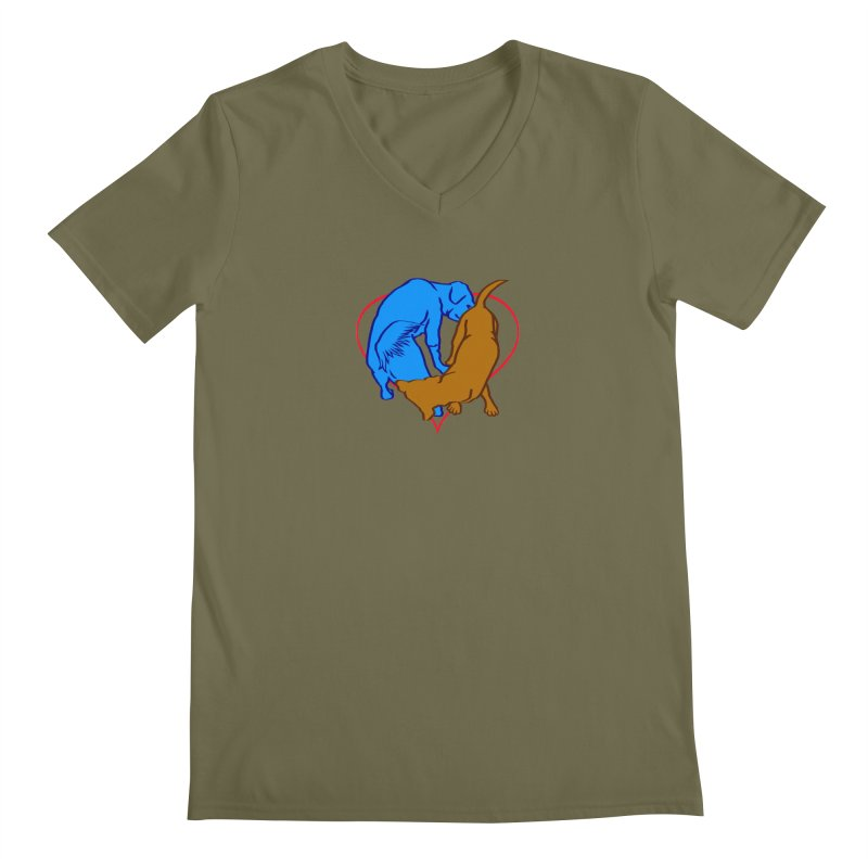 love at first... Men's V-Neck by truthpup's Artist Shop