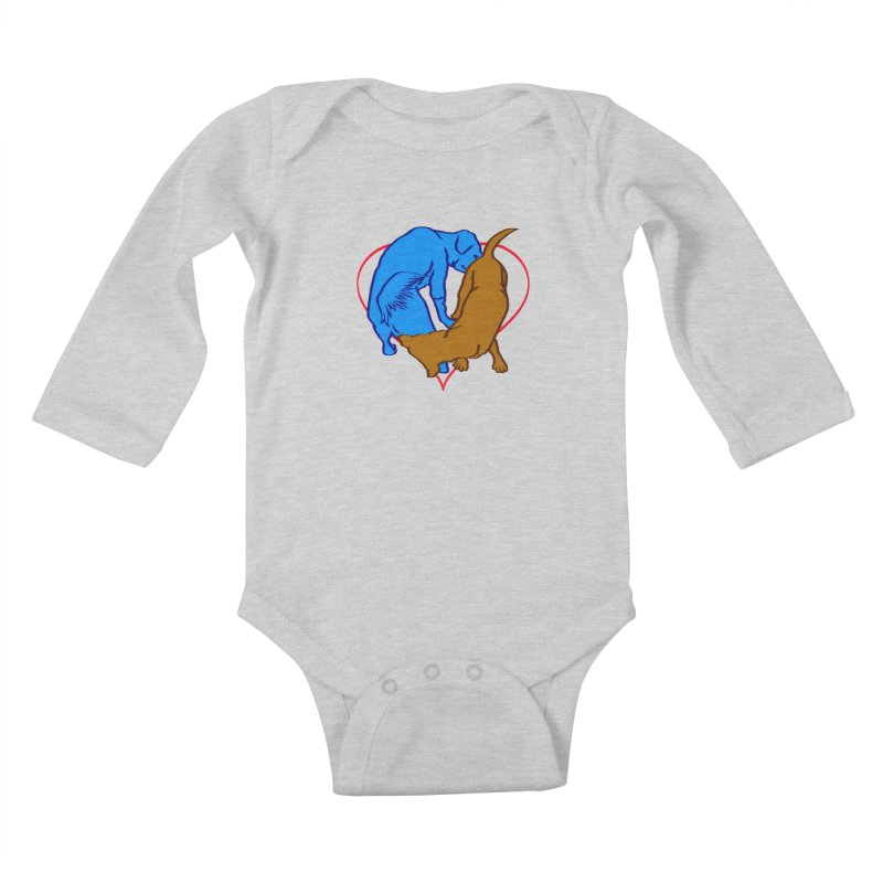 friends Kids Baby Longsleeve Bodysuit by truthpup's Artist Shop