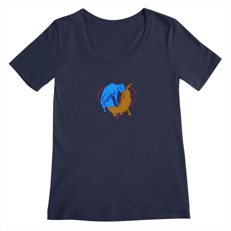 love at first... Women's Scoopneck by truthpup's Artist Shop