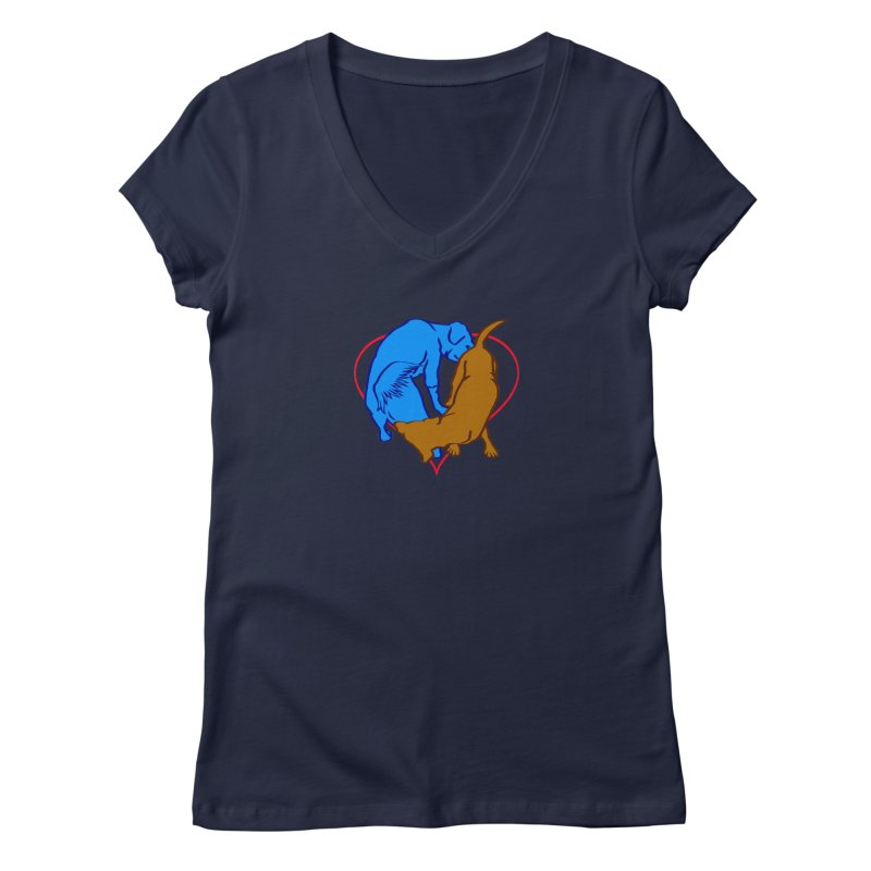 love at first... Women's V-Neck by truthpup's Artist Shop