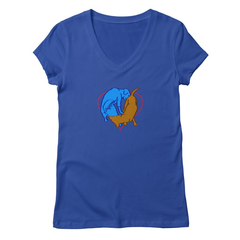 friends Women's Regular V-Neck by truthpup's Artist Shop