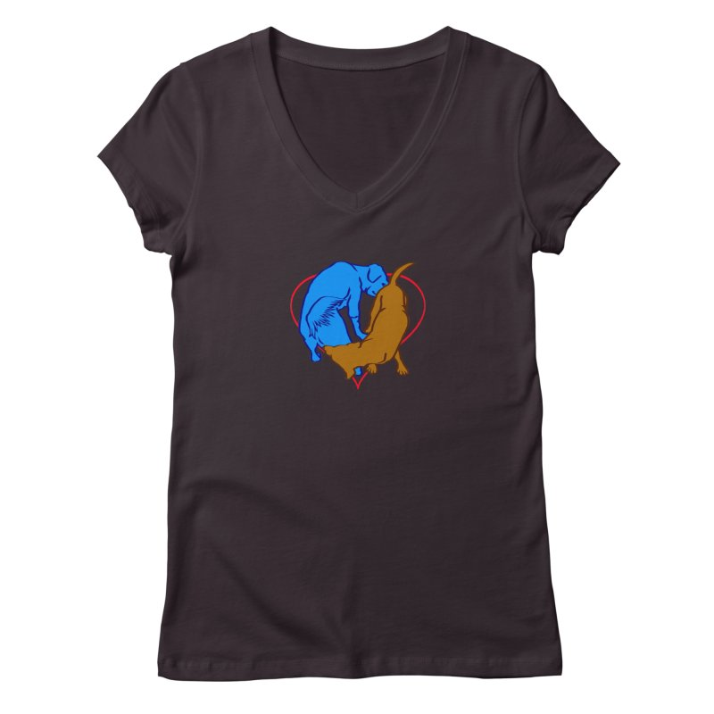 love at first sniff Women's Regular V-Neck by truthpup's Artist Shop