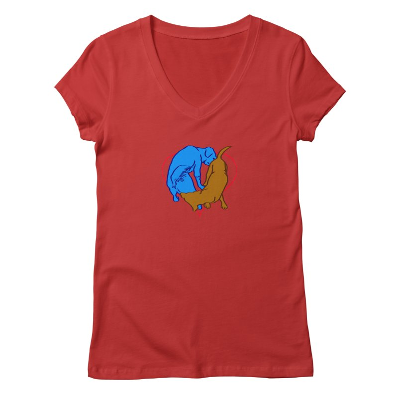 love at first... Women's Regular V-Neck by truthpup's Artist Shop