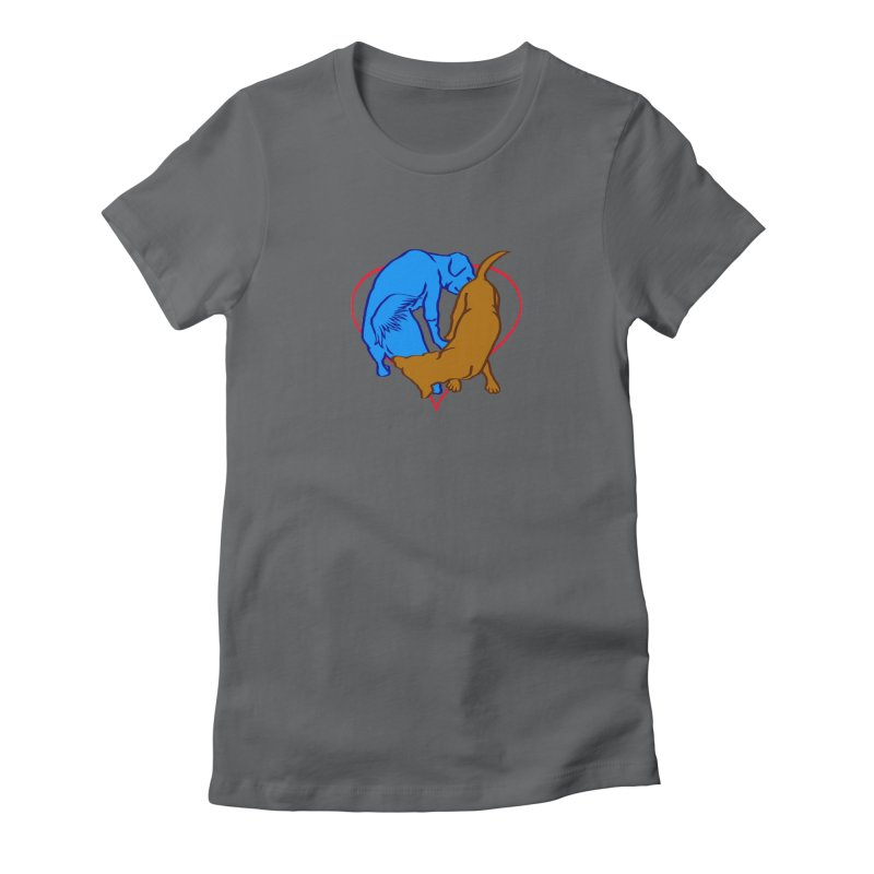 love at first sniff Women's Fitted T-Shirt by truthpup's Artist Shop