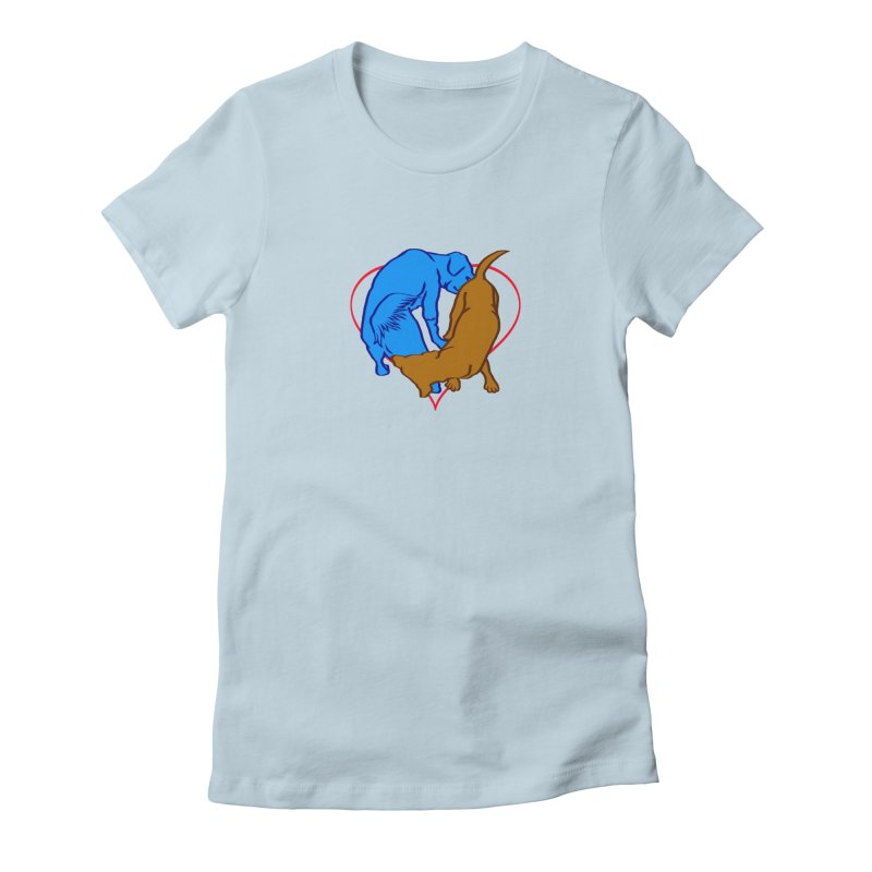 love at first... Women's Fitted T-Shirt by truthpup's Artist Shop