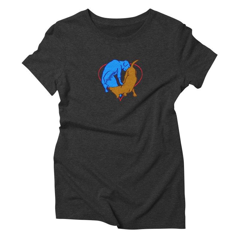 love at first... Women's Triblend T-Shirt by truthpup's Artist Shop