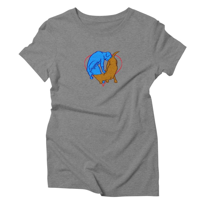 love at first sniff Women's Triblend T-Shirt by truthpup's Artist Shop