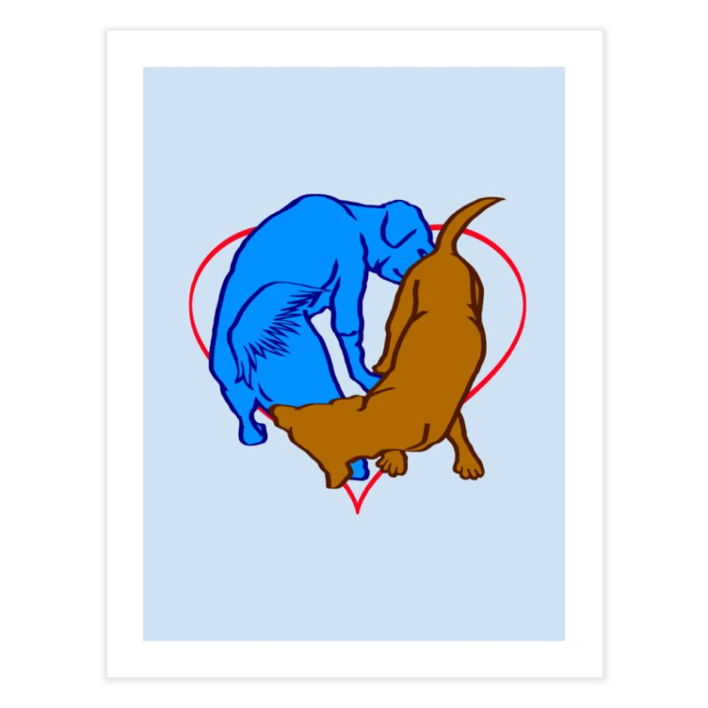 love at first sniff Home Fine Art Print by truthpup's Artist Shop