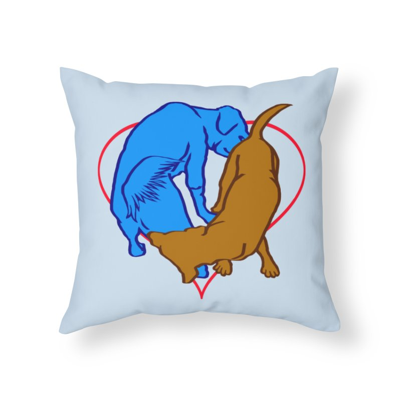 love at first sniff Home Throw Pillow by truthpup's Artist Shop