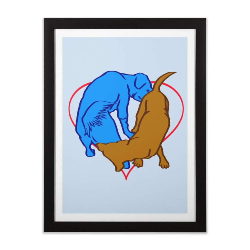 love at first sniff Home Framed Fine Art Print by truthpup's Artist Shop