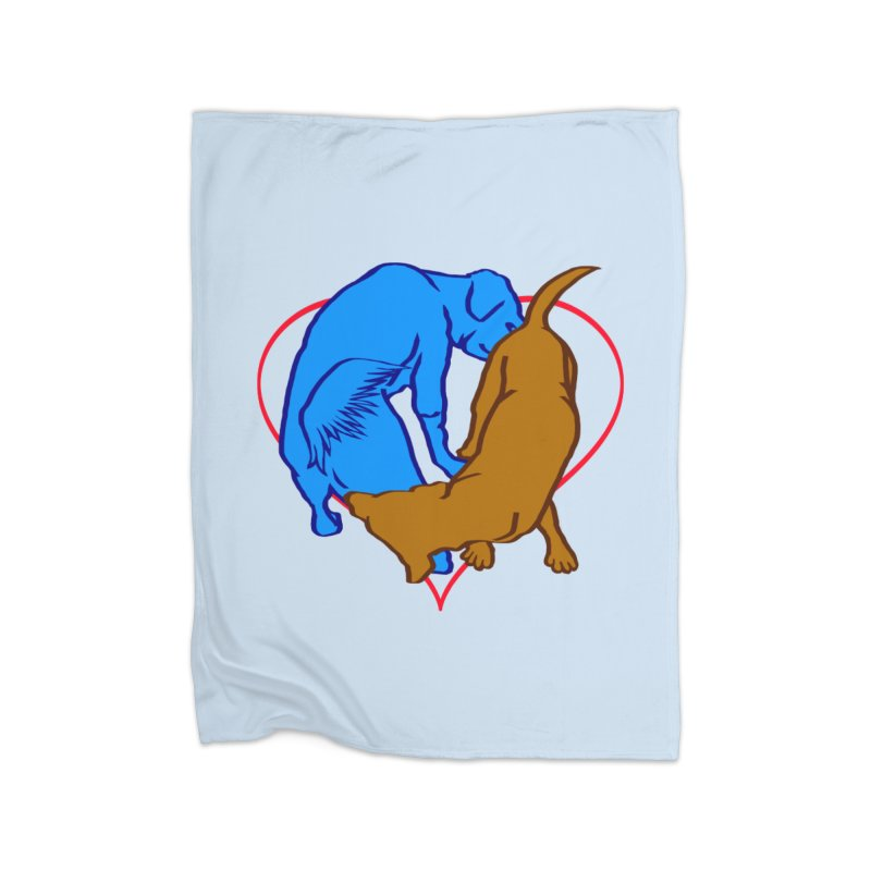love at first sniff Home Fleece Blanket Blanket by truthpup's Artist Shop