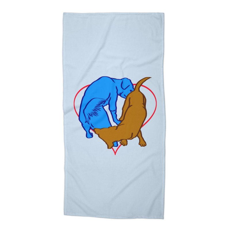 love at first sniff Accessories Beach Towel by truthpup's Artist Shop