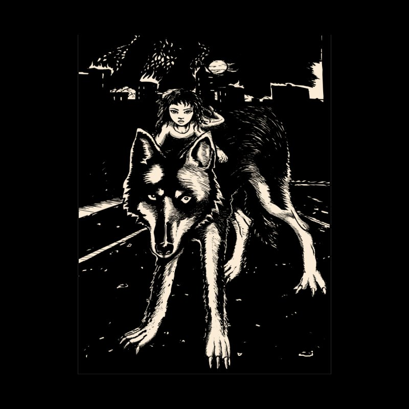 wolf rider Women's T-Shirt by truthpup's Artist Shop