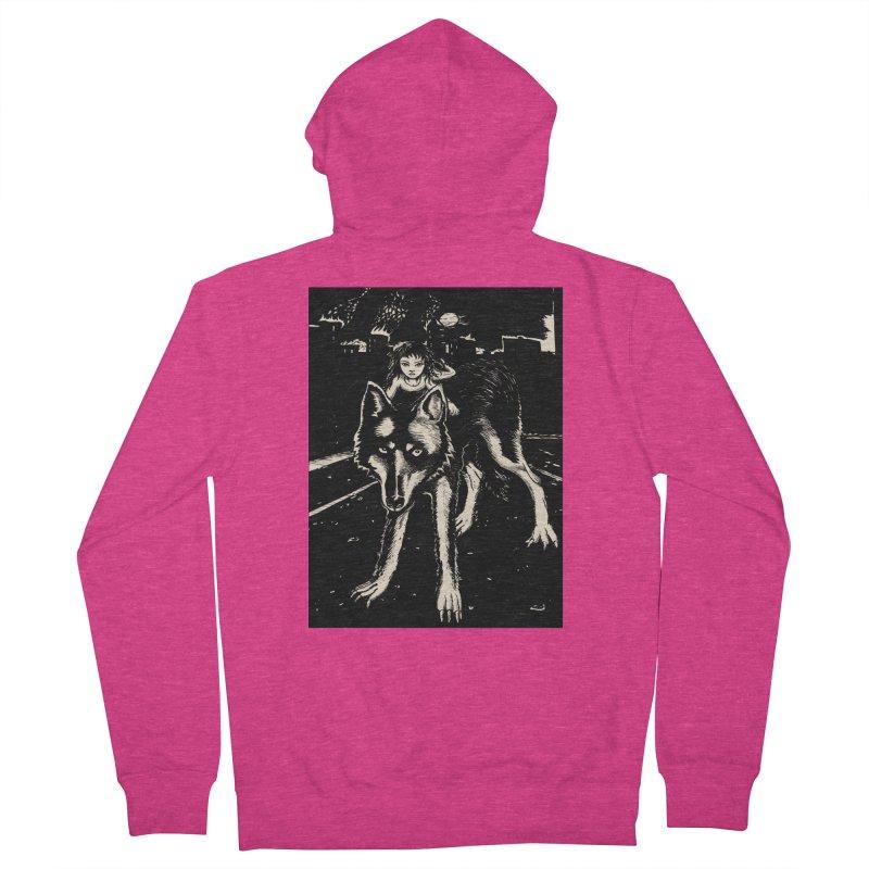 wolf rider Women's Zip-Up Hoody by truthpup's Artist Shop