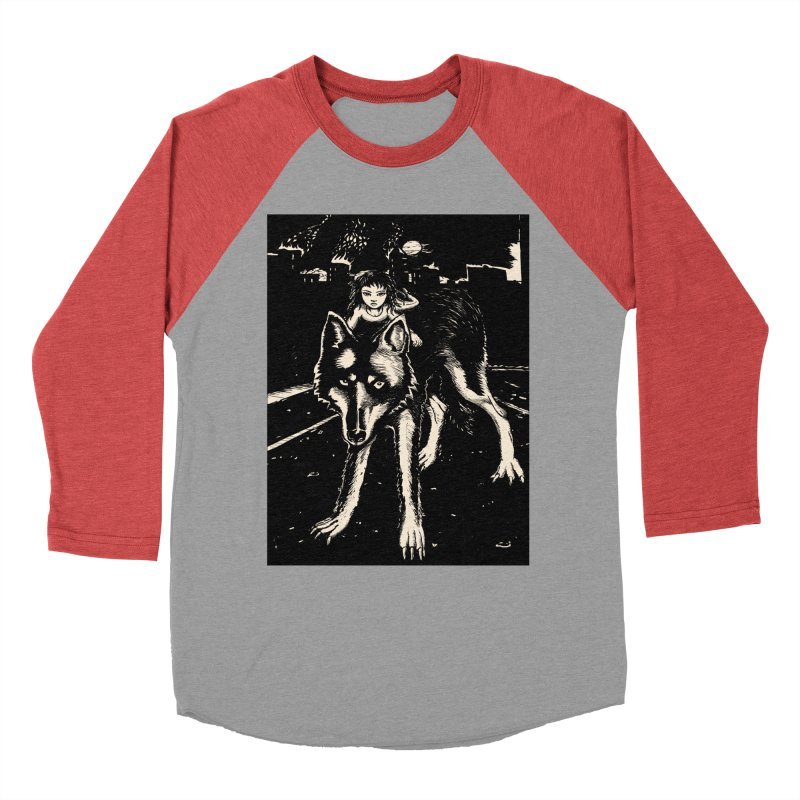 wolf rider Women's Longsleeve T-Shirt by truthpup's Artist Shop