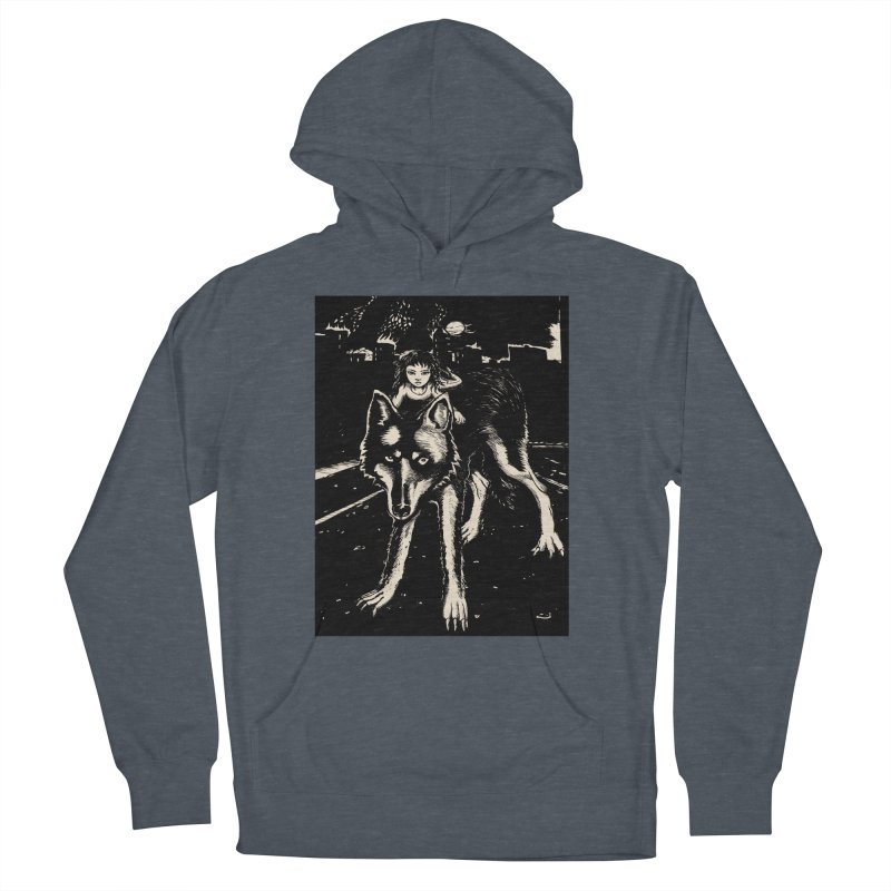 wolf rider Women's French Terry Pullover Hoody by truthpup's Artist Shop