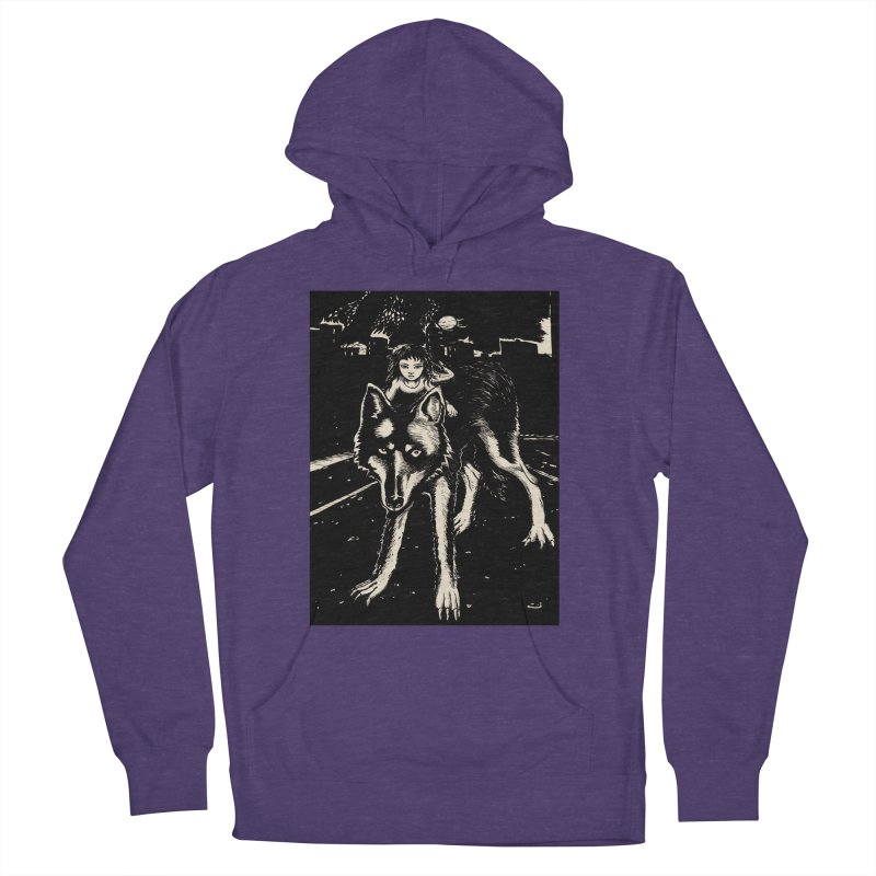 wolf rider Men's French Terry Pullover Hoody by truthpup's Artist Shop