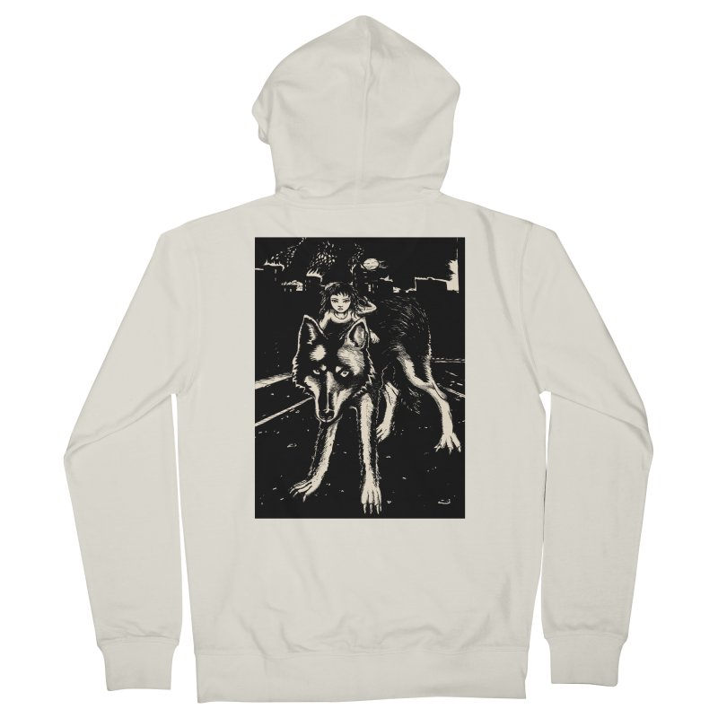 wolf rider Women's Zip-Up Hoody by truthpup's Artist Shop