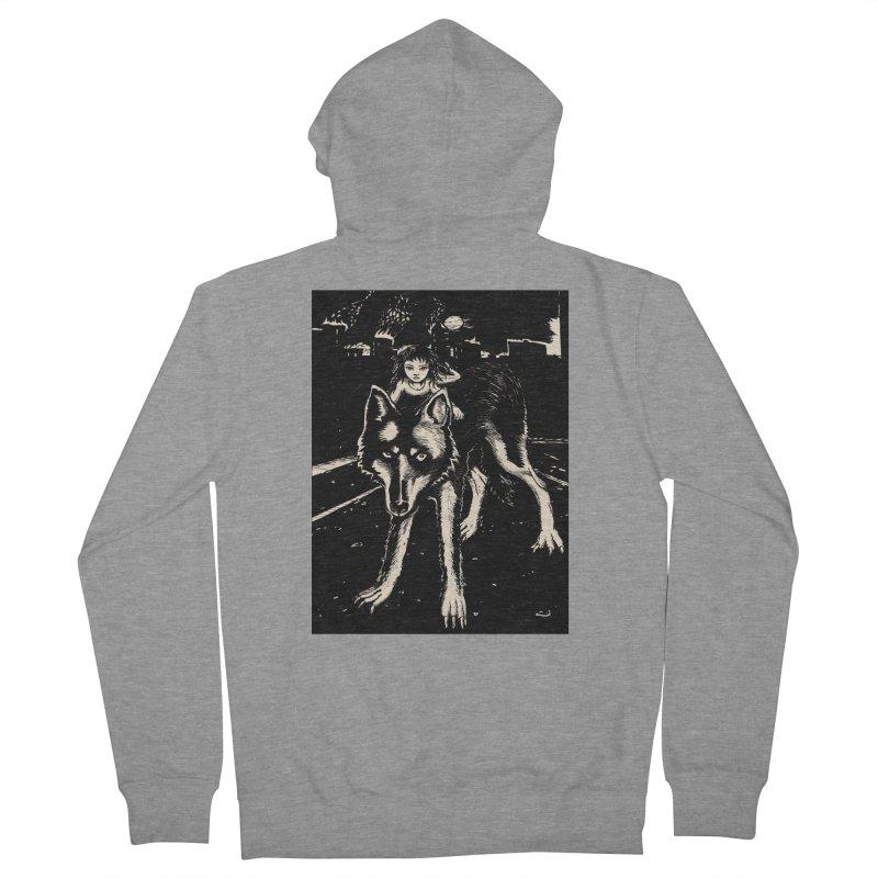 wolf rider Men's Zip-Up Hoody by truthpup's Artist Shop