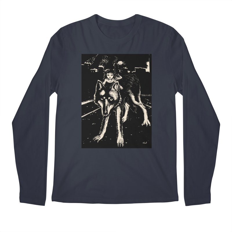 wolf rider Men's Regular Longsleeve T-Shirt by truthpup's Artist Shop