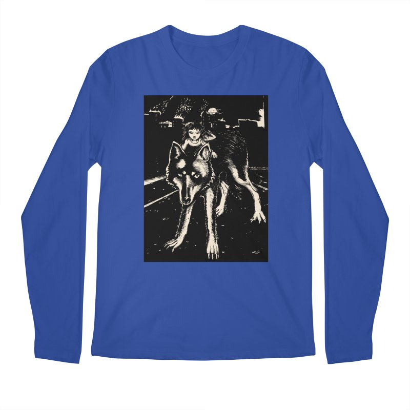 wolf rider Men's Longsleeve T-Shirt by truthpup's Artist Shop