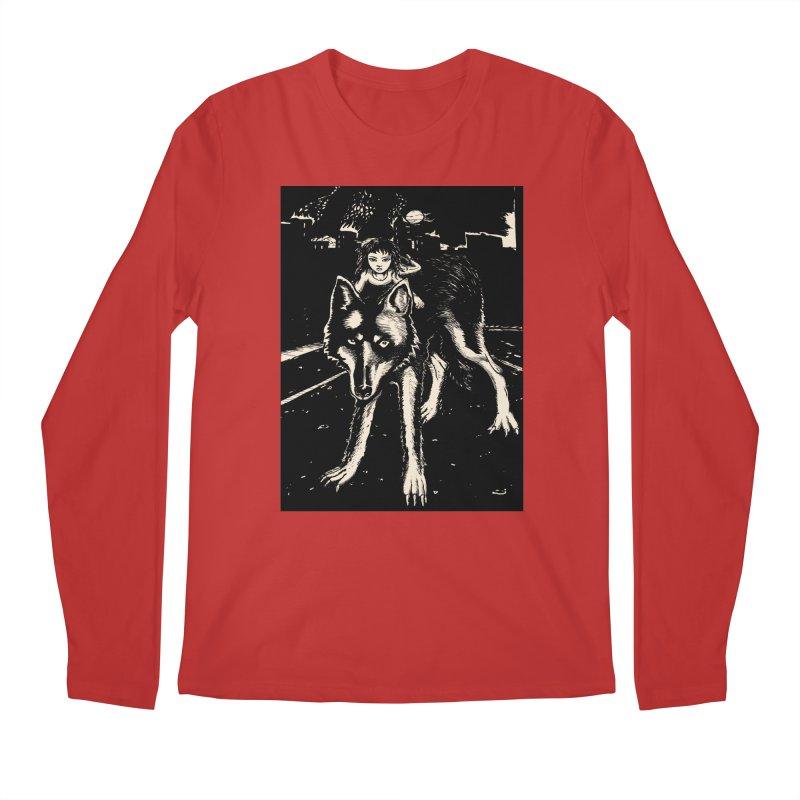 wolf rider Men's Regular Longsleeve T-Shirt by truthpup's Artist Shop