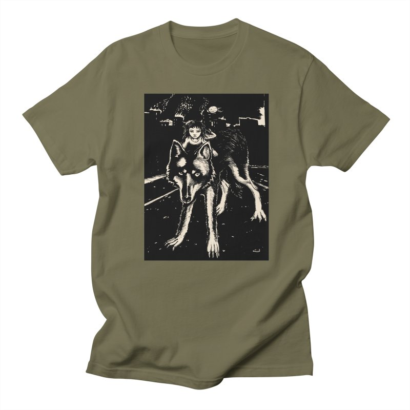 wolf rider Men's T-Shirt by truthpup's Artist Shop