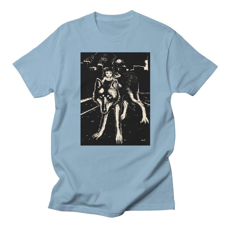 wolf rider Women's Regular Unisex T-Shirt by truthpup's Artist Shop